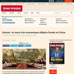 Guinée : le menu très économique d'Alpha Condé en Chine