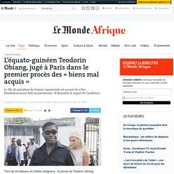 L'équato-guinéen Teodorin Obiang, jugé à Paris dans le premier procès des «biens mal acquis»