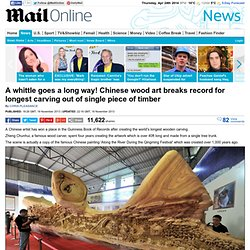 Guinness Book of Records for creating the world's longest wooden carving