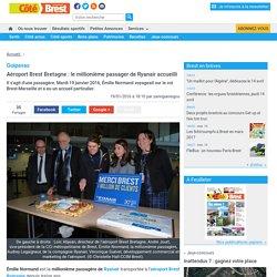 Guipavas. Aéroport Brest Bretagne : le millionième passager de Ryanair accueilli