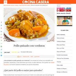 Receta de pollo guisado con verduras y almendras al estilo casero