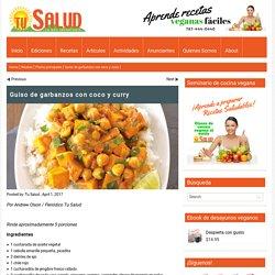 Guiso de garbanzos con coco y curry