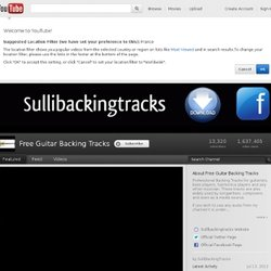 SulliBackingTracks's Channel
