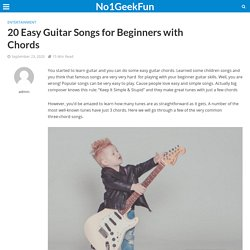 Learn Easy Guitar Songs With Easy Chords For Beginners