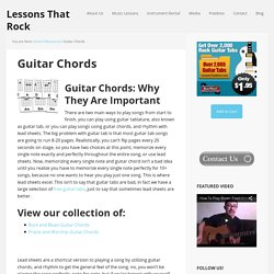 Guitar Chords and Lyrics Rock, Blues, and Folk Guitar Songs