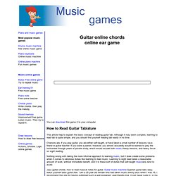 Guitar chords online game