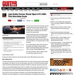 Jazz Guitar Corner: Break Open ii-V's With This Nine-Note Scale