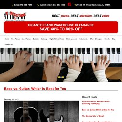 Bass vs. Guitar: Difference, Difficulty and Which Is Best for You