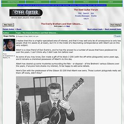 View topic - The Everly Brothers and their Gibsons...