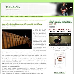 Learn The Guitar Fingerboard Thoroughly in 16 Days | GuitarHabits.com - StumbleUpon