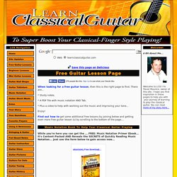 Free Guitar Lesson Page - With Videos PDF Files And Study Notes