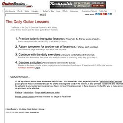 Daily Guitar Lessons