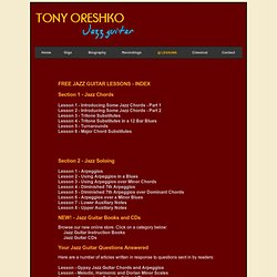 Free Jazz Guitar Lessons on Chords and Soloing by Tony Oreshko