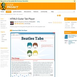 HTML5 Guitar Tab Player