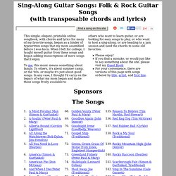 Sing-Along, Folk, & Rock Guitar Songs (chords & lyrics)