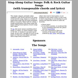 Sing-Along, Folk, &Rock Guitar Songs (chords &lyrics)