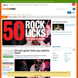 50 rock guitar licks you need to know