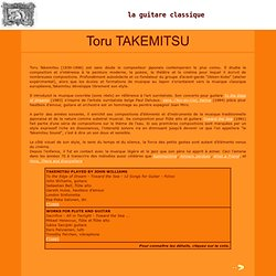 La guitare classique - Toru TAKEMITSU - L'oeuvre pour guitare