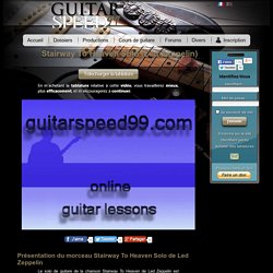 Cours de guitare Stairway To Heaven Solo (Led Zeppelin) avec tab