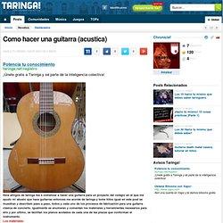 Como hacer una guitarra (acustica)
