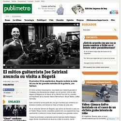 El mítico guitarrista Joe Satriani anuncia su visita a Bogotá