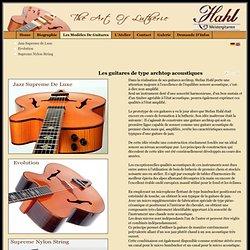 Les guitares de type archtop acoustiques