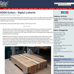 KOZM Guitars - Digital Lutherie