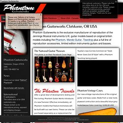 Phantom Guitars Clatskanie, Oregon