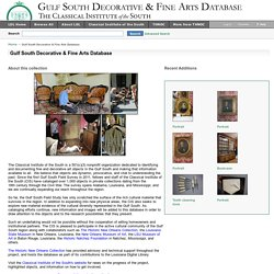 Gulf South Decorative & Fine Arts Database