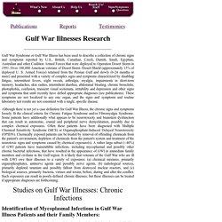 Gulf War Illness Research