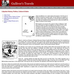 Gulliver's Travels to Lilliput: History, Politics, Culture & Satire of Lilliput - Gulliver's Travels