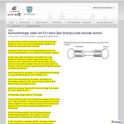 Gulmarkeringar sidan 44-72 i Hans-Åke Scherps Leda lärande samtal - Kollegialt lärande