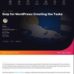 Gulp for WordPress: Creating the Tasks
