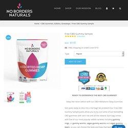 Free CBD Gummy Sample - No Borders Naturals