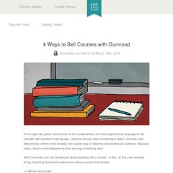4 Ways to Sell Courses with Gumroad
