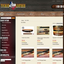 Tough and Durable Gun Belts from Tucker Gunleather