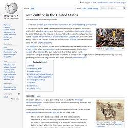Gun culture in the United States