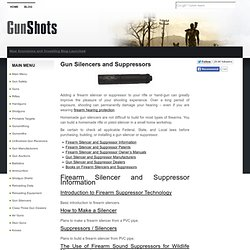 Gun Silencers and Suppressors