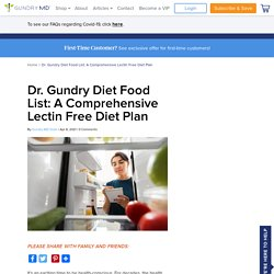 Dr Gundry Diet Food List (A Comprehensive Yes And No List)