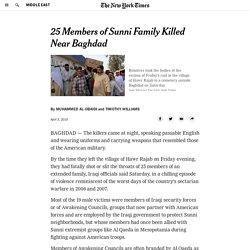 Gunmen in Uniform Kill 25 Family Members in Iraq