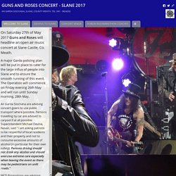GUNS AND ROSES CONCERT - SLANE 2017