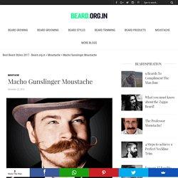 Macho Gunslinger Moustache
