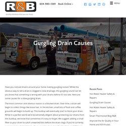 Gurgling Drain Causes - R & B Plumbing