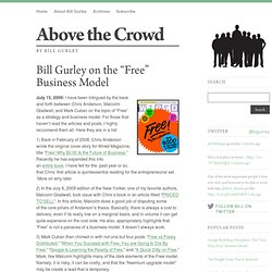 "Bill Gurley on the ""Free"" Business Model"