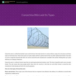 Concertina Wire and Its Types