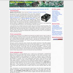 GuruPlug Server Plus : don't waste your money