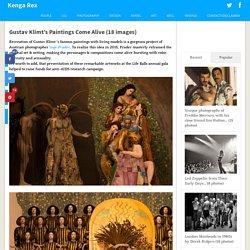 Gustav Klimt's Paintings Come Alive (18 images)