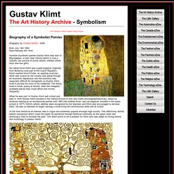 Gustav Klimt - Symbolist Painter