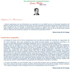 Gustav Mahler : Ses symphonies - garry.holding.pagesperso-orange.fr