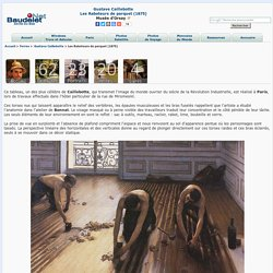 Gustave Caillebotte : Les Raboteurs de parquet (1875)